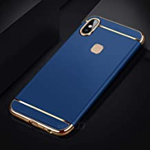 WPRIE Blue Matte Finish Full Body 3 in 1 Protective Back Cover Case for Vivo Y95