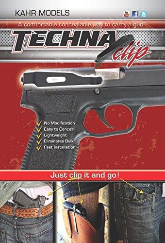 Techna Clip - Kahr .9MM .40 .45 Models - Conceal Carry Gun Belt Clip (Right-Side)