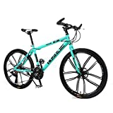 WND Mountain Bike Bicycle 26 Inch 24 Speed 10 Knife Students Adult Student Man and Woman Multicolor,Bianchi,155-185cm