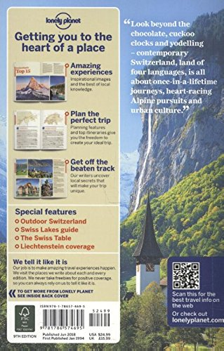 Lonely Planet Switzerland (Country Guide) - 51fYDvTHEtL