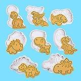 8 Pezzi Stampi Tagliabiscotti Dinosauro, Dinosauro Torta Set Stampini, Dinosauro Cioccolato Tagliabiscotti, Stampi Dinosauro in Plastica, per Cucine, Ristoranti, Panifici, Pasticcerie