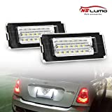 NSLUMO 2 bombillas LED de xenón blanco para matrícula, con CanBus sin errores para Mini R55/R56/R57/R58/R59