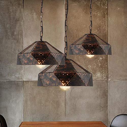 Loft hanglamp vintage antiek hanglamp bar eetkamer woonkamer slaapkamer studeerkamer restaurant kroonluchter retro industrial rond ijzer decoratieve lamp hanglamp bijl 32 cm x 16 cm E27