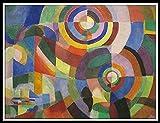 Pintura por números,Kits de Pintar acrílica DIY para Adultos Niños Principiantes Fácil sobre Lienzo con Pinturas y Pinceles - Electric prisms by Sonia Delaunay (Sarah Ilinitchna Stern)