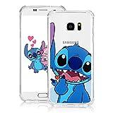 Nico Funda Samsung Galaxy S7 Edge, Lindo Gracioso Dibujos Animados Cáscara Moda, TPU Ultra-Delgado Anti-Choque Bumper Case Caso para Teléfono Samsung Galaxy S7 Edge (HeartStitch)