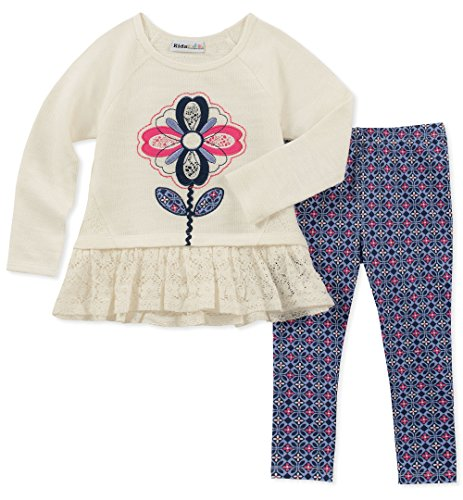 Kids Headquarters Baby Girls 2 Pieces Legging Set, White Novelty/Print, 18M