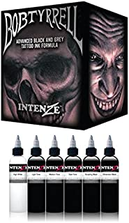 100% Authentic Intenze Tattoo Professional Artist Tattoo Ink / Pigmnent Sets (Bob Tyrrell 6 Colors Ink Set)