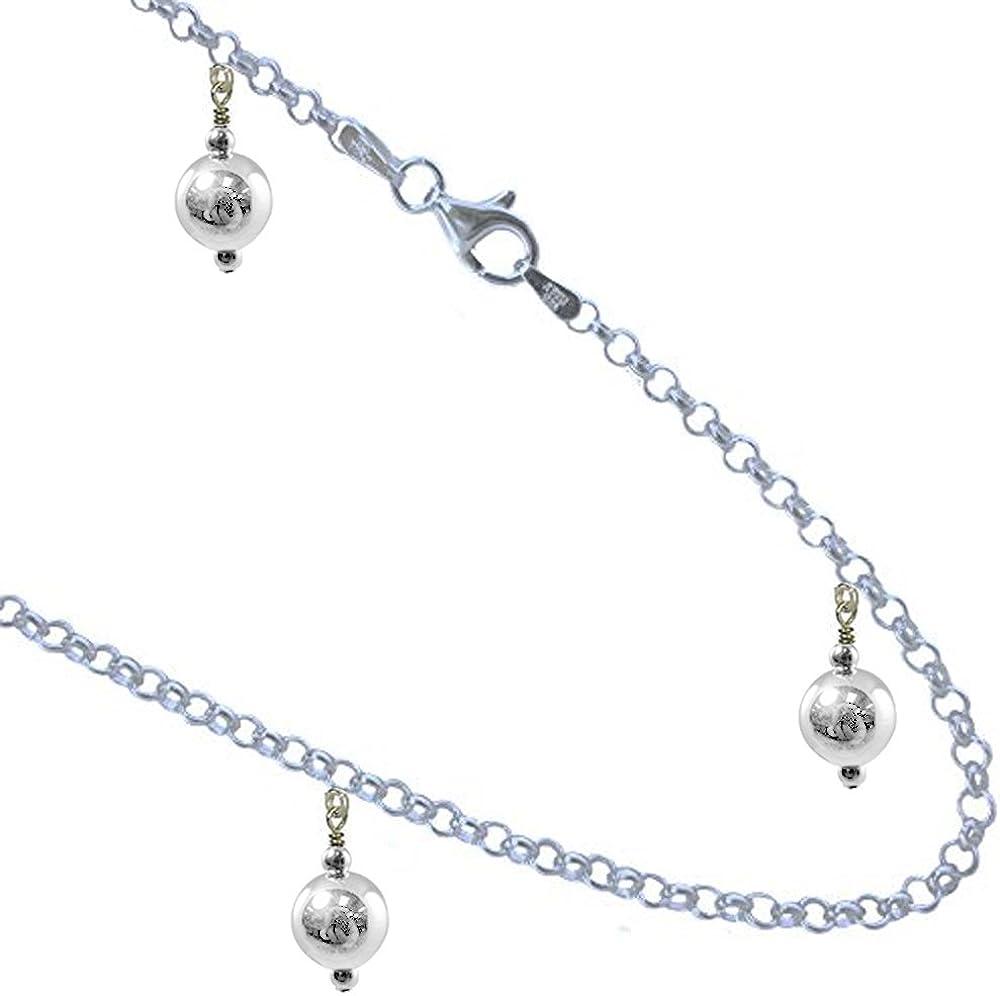 Balls 925 Sterling Silver Anklet