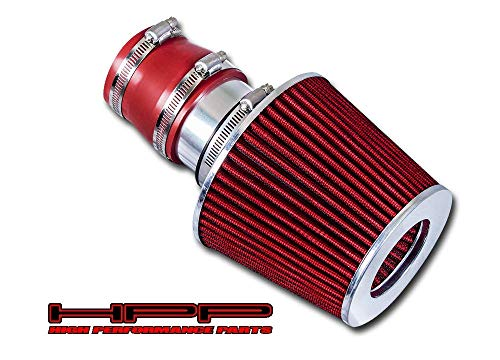 High Performance Parts Short Ram Air Intake Kit & Red Filter Combo Compatible for Volkswagen 99-04 Golf/Jetta/GTI 1.8T / 2.0L / VR6