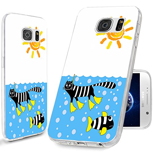 new product 2397b 8cc48 S6 Case,Samsung S6 Case,Galaxy S6 Case,ChiChiC [Cool Series] Full  Protective Slim Flexible Durable Soft TPU Case for Samsung Galaxy S6 G9200,  funny ...