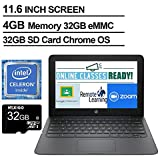 2020 Newest HP Chromebook 11.6 Inch Laptop, Intel Celeron N3350 up to 2.4 GHz, 4GB LPDDR2 RAM, 32GB eMMC, WiFi, Bluetooth, Webcam, Chrome OS + NexiGo 32GB MicroSD Card Bundle