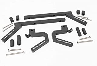 Rough Country Aluminum Grab Handles (fits) 2007-2018 Jeep Wrangler JK | Front/Rear | Geometric Style 6509