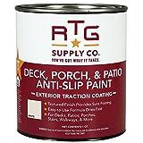 RTG Supply Co.-512596 Deck, Porch, Patio Anti-Slip Paint (Quart, White)