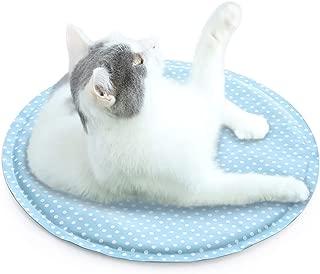 在庫一掃 ペットひんやりシート猫 HAVARGO ペットベッド夏用猫 多用途 ひんやりペットマット 猫クール 熱中症対策 涼感冷感マット 猫ひんやり 冷えマット クールジェルマット ペット 夏 熱中症・暑さ対策 ペット用品 小型犬猫用 直径40㎝