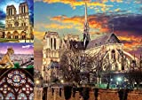HJHJHJ Notre Dame Collage Jigsaw Puzzle 1000 Piezas