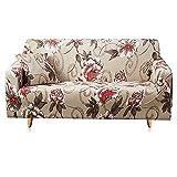 Juego de Fundas para sofá Funda para sofá Funda elástica para sofá para Sala de Estar Pida 2 Piezas para Adaptarse al sofá Chaise Longue en Forma de L A7 de 4 plazas