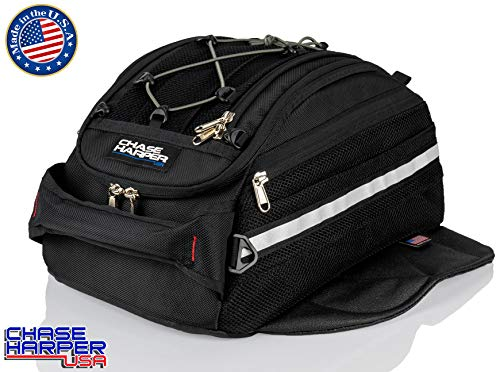 Chase Harper USA 540 Magnetic Tank Bag - 2020 Model - Water-Resistant, Tear-Resistant, Industrial Grade Ballistic Nylon with Anti-Scratch Rubberized Bottom, Neodymium Magnets within Magnetic Wings