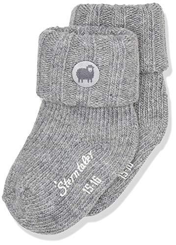 Sterntaler Baby-Mädchen Söckchen Socks, Silber Mel, 16