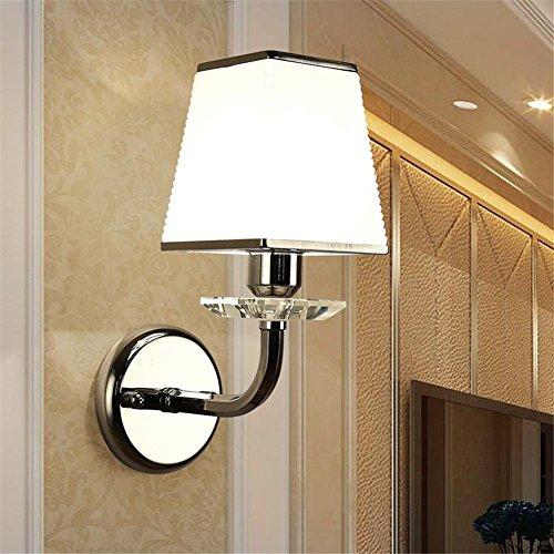 Atmko®Applique Murale Lampe murale style simple moderne Lampe de fer Cristal Art Salle de séjour Chambre à coucher Restaurant Aisle Applique murale décorative