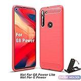 SCL Moto G8 Power Case Motorola G8 Power Case, [Red] Carbon