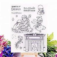 卸売透明クリアスタンプ暖炉の天使シリコーンシールローラースタンプDIYスクラップブッキングフォトアルバム/カード作成
