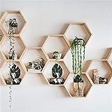 N/A QAQZZ Étagère hexagonale Nordique en Bois étagère Murale en nid d'abeille étagères hexagonales pour bébé Enfant Chambre décoration
