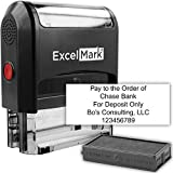 ExcelMark 5-Line Large Return Address Stamp - Custom Self Inking Rubber Stamp - Customize Online with Many Font Choices - Large Size (Custom Stamp with Additional Replacement Stamp Pad)