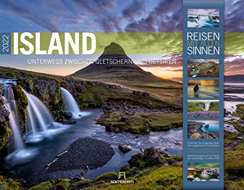 Island Kalender 2022, Wandkalender im Querformat (54x42 cm) - Natur- und Reisekalender: Unterwegs zwischen Gletschern und Geysiren