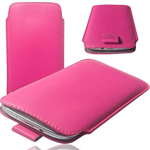 MOELECTRONIX Hülle passend für TP-Link Neffos C9A Tasche Schutz Hülle Etui Cover Smartphone Socke 1K Slim PINK