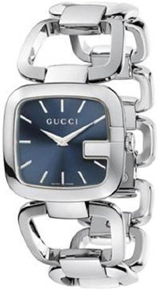 Gucci,orologio per donna, in acciaio inossidabile,quadrante blu con lancette argentate YA125405