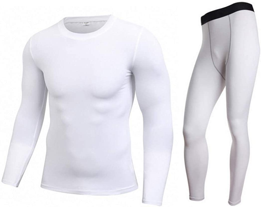 Thermal Underwear for Men Stretchy Sport Long John Set Ultra Soft Base Layer Top and Bottom