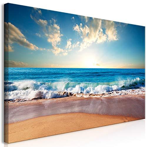 murando Cuadro Mega XXXL Playa Mar 270x135 cm Cuadro en Lienzo en Tamano XXL Estampado Grande Gigante Imagen para Montar por uno Mismo Decoración De Pared Impresión DIY Paisaje Cielo c-B-0384-ak-e