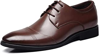 Men's Business Casual Lace Up Oxford Shoes Formal Shoes (Color : Brown, Size : 39)
