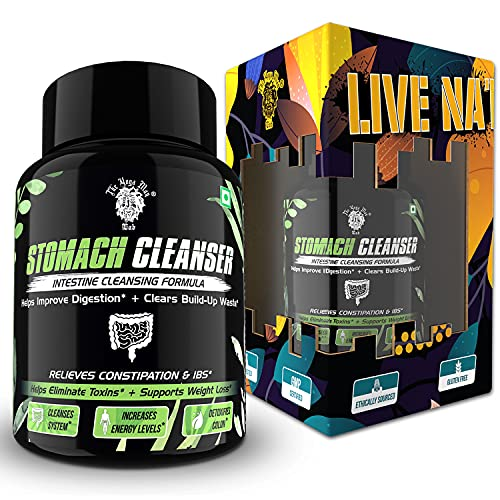 The Yoga Man Lab - Stomach Cleanser | Natural Colon Detox | A Probiotic Formula With Flaxseed, Aloevera, Psyllium Husk & MCT Oil To Relieve Constipation | 14 Days Program To Manage Gut Health & Weight