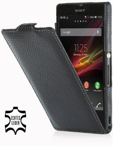 StilGut lederen tas voor Sony Xperia Z Blanco Y Gris