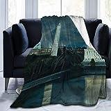 Washington Dc Under Moonlight Throw Blanket Ultra Soft Velvet Blanket Lightweight Bed Blanket Quilt Durable Home Decor Fleece Blanket Sofa Blanket Luxurious Carpet for Men Women Kids 40x50 Inch