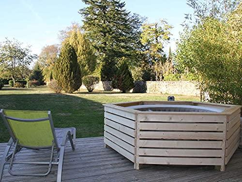 Aquazendo Habillage en Bois pour Spa Gonflable