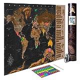 decomonkey Rubbelweltkarte AKTUELLE Weltkarte mit neuester