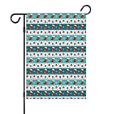 Garden Flag Double Sided Christmas Eve Crackers Claus Blue Spring Summer Yard Outdoor Decorative(Only Flags in The Set)