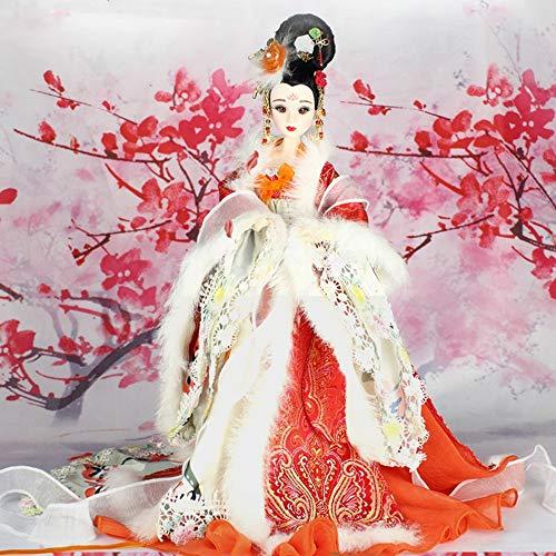 HEEGNPD 35cm Sammlerstück Chinesische Puppen Antike Kostüm Saison Puppen mit 12 Joints Movable BJD Mädchen Puppe Spielzeug Geschenke Four Seasons Ausgabe,Winter