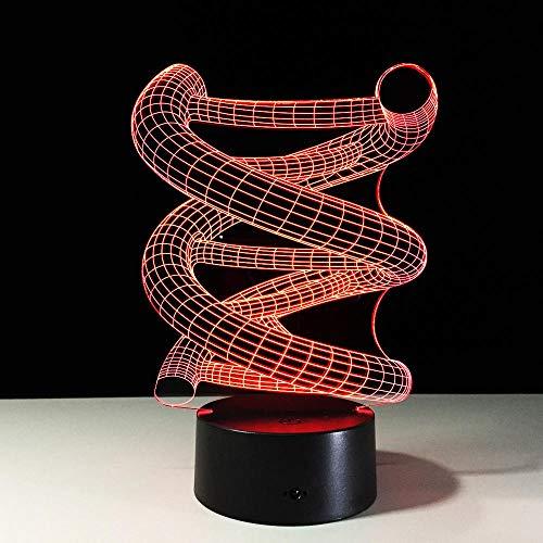3D DNA Modell LED Nachtlicht Hot Sale ABS Touch Base 7 Farbwechsel Abstrakte Stimmungslampe LED Tisch Illusion für Zuhause ative
