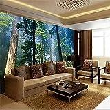 Sunny Trees Big TV Hintergrundwand Großes Wandbild Sofa Schlafzimmer Wohnzimmer TV Hintergrund Wandtapete Tapete wandpapier fototapete 3d effekt tapeten Wohnzimmer Schlafzimmer-400cm×280cm
