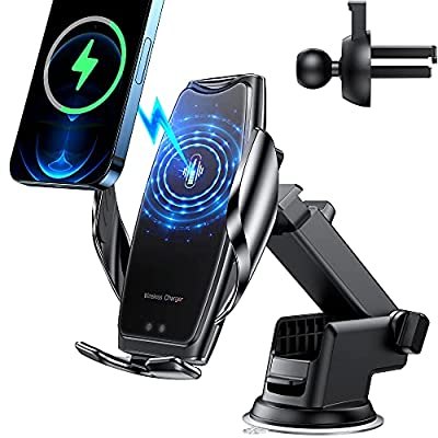 Wireless Car Charger Mount-Auto-Clamping Smart ...