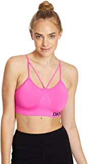 DKNY Sport Womens Low Impact Fitness Sports Bra Pink XS