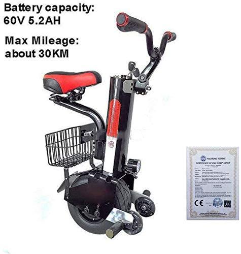 ZHANGDONG Single-Wheeled Elektromotorradbatterie 500W 10-Zoll-intelligente selbstausgleich Einrad Elektroroller (Größe: 45 km)