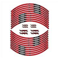 bazutiwns オートバイタイヤステッカーすべてのホンダVFRと互換性のあるインナーホイール反射装飾デカール HSLL (Color : 2)