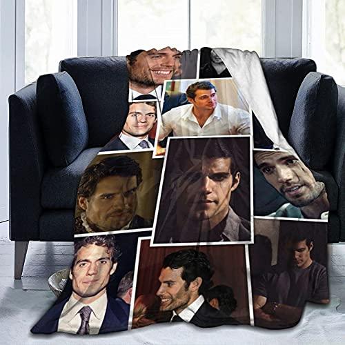 Henry Cavill Manta suave y acogedora manta manta de franela para sofá cama, sala de estar, 152 x 127 cm