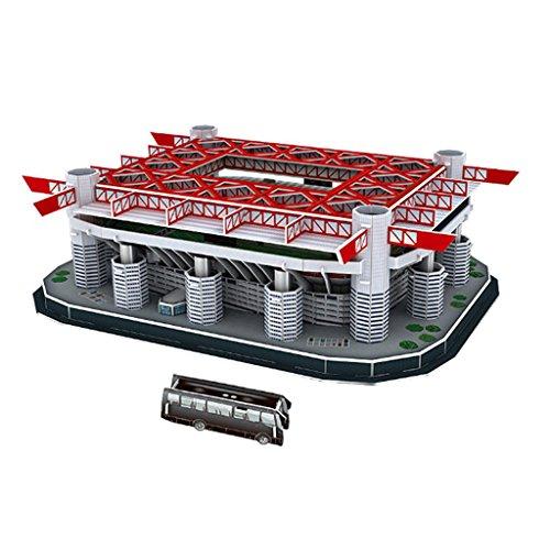 MagiDeal Modello Campo di Calcio Stadio Puzzle 3D per Celebrare Gioco di Calcio 2018 - San Siro