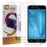 Guran 4 Pezzi Pellicola Protettiva in Vetro Temperato per ASUS Zenfone 3 Zoom S ZE553KL / Zenfone3 Zoom Smartphone 9H Durezza Anti-Impronte HD Alta Trasparenza Pellicola