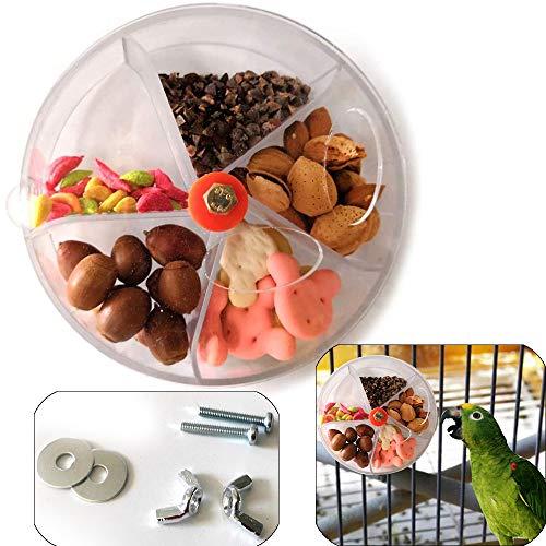 Sqxaldm Rueda de Alimentación para Loros Accesorios para Pájaros Juguete Giratorio Juguete de Alimentación Pájaros Loros Creativo Juguete de Forrajeo de Aves Transparente Alimentador Comida Loros
